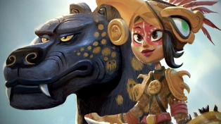 """Presentan """"Maya y los tres"""", una serie animada sobre una princesa guerrera y mesoamericana"""