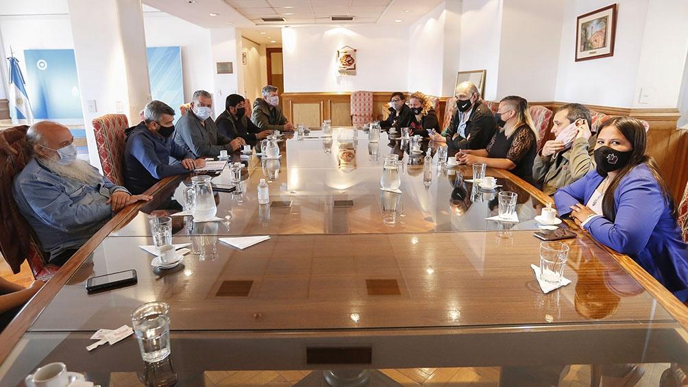 Además de Zabaleta, participaron de la reunión el viceministro de Desarrollo Social, Gustavo Aguilera, y Emilio Pérsico, secretario de Economía Social en Desarrollo Social
