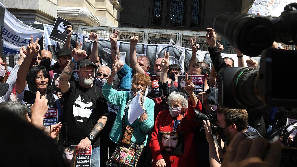 """Con una marcha a la Corte Suprema, la familia Maldonado reclamó por la """"falta de respuestas"""""""