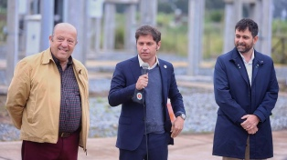 Kicillof inauguró línea de alta tensión en Mar Chiquita