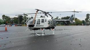 Un camión chocó contra un helicóptero sanitario en la autopista Perito Moreno