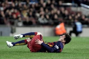 Messi está en duda para jugar ante Athletic de Bilbao por la Copa del Rey
