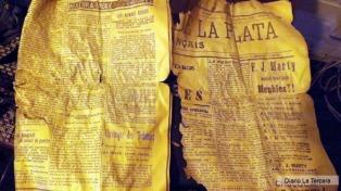 Descubren restos de un diario argentino de 1908