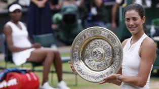 Garbiñe Muguruza, campeona en el abierto de Wimbledon