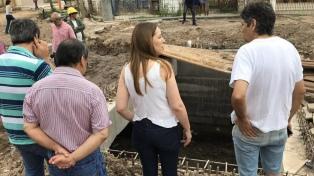 Vidal recorrió la obra de Desagües Pluviales de la Cuenca del Arroyo Dupuy