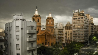 Sábado con tormentas en la Ciudad de Buenos Aires