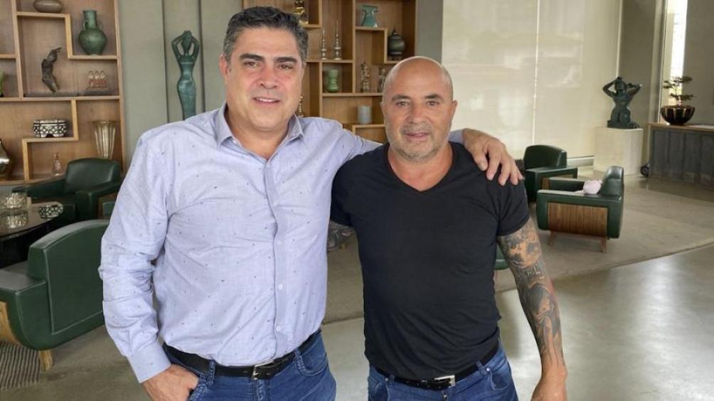 Sampaoli y Sette Camara presidente de Mineiro