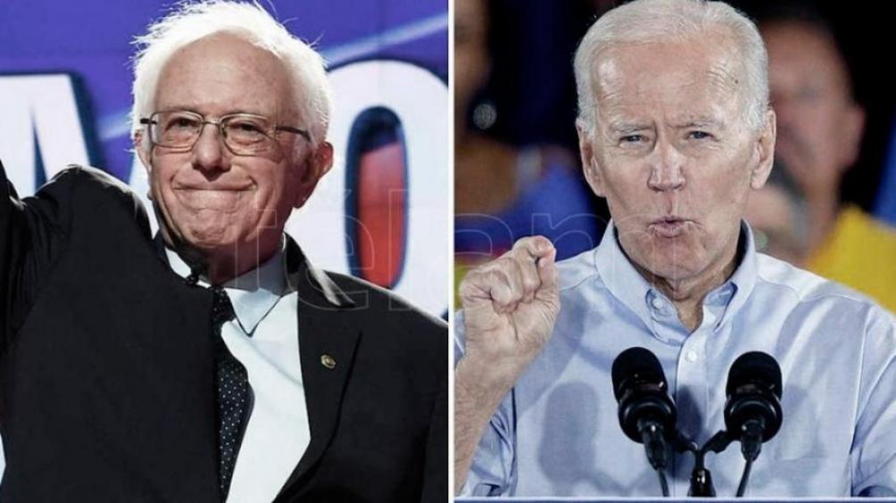 Bernie Sanders y Joe Biden, candidatos demócratas