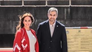 El presidente paraguayo con su esposa