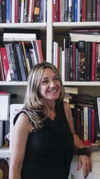 La argentina Alejandra Micheli, integrante del staff del museo.