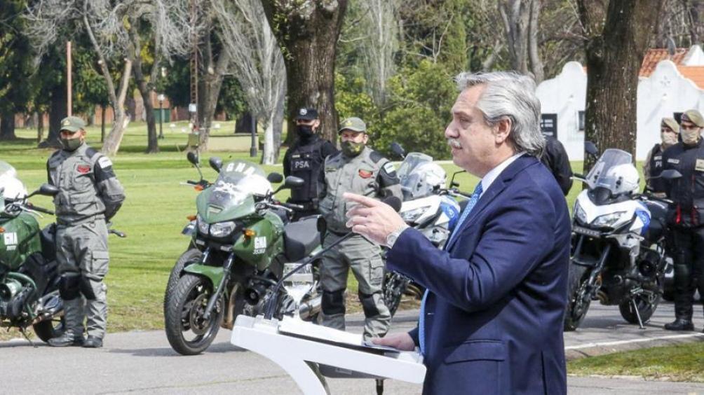 Alberto Fernández, durante el anuncio del programa para Buenos Aires.