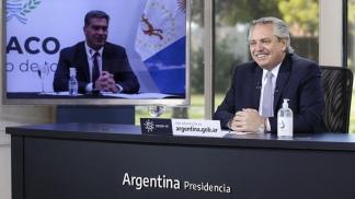 """Alberto Fernández sostuvo que """"se necesitan empresarios que confíen en el país, inviertan, produzcan y den trabajo""""."""