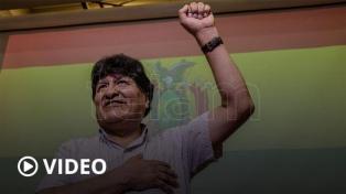 Evo Morales agradeció por su estancia en la Argentina y volvió a cargar contra la OEA