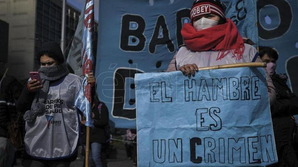 """La protesta es en """"defensa de las cooperativas de trabajo"""" para jóvenes y la asistencia alimenticia a los comedores populares"""