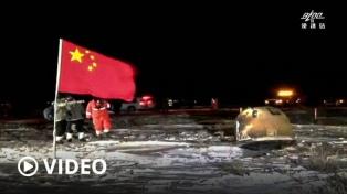 Una sonda espacial china trajo muestras de la Luna por primera vez en 44 años