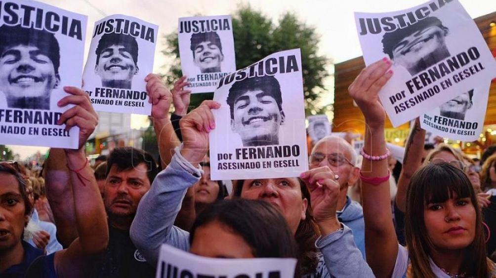 El joven Fernando Báez Sosa fue golpeado hasta morir hace un año y ocho meses.