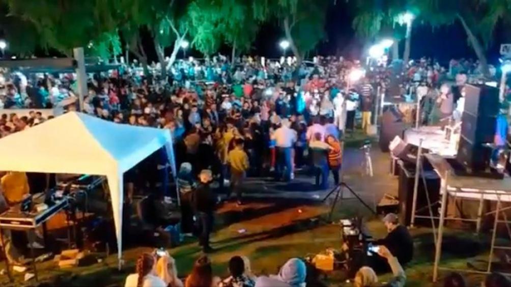 Una imagen del festejo que la Municipalidad promocionó en sus redes.