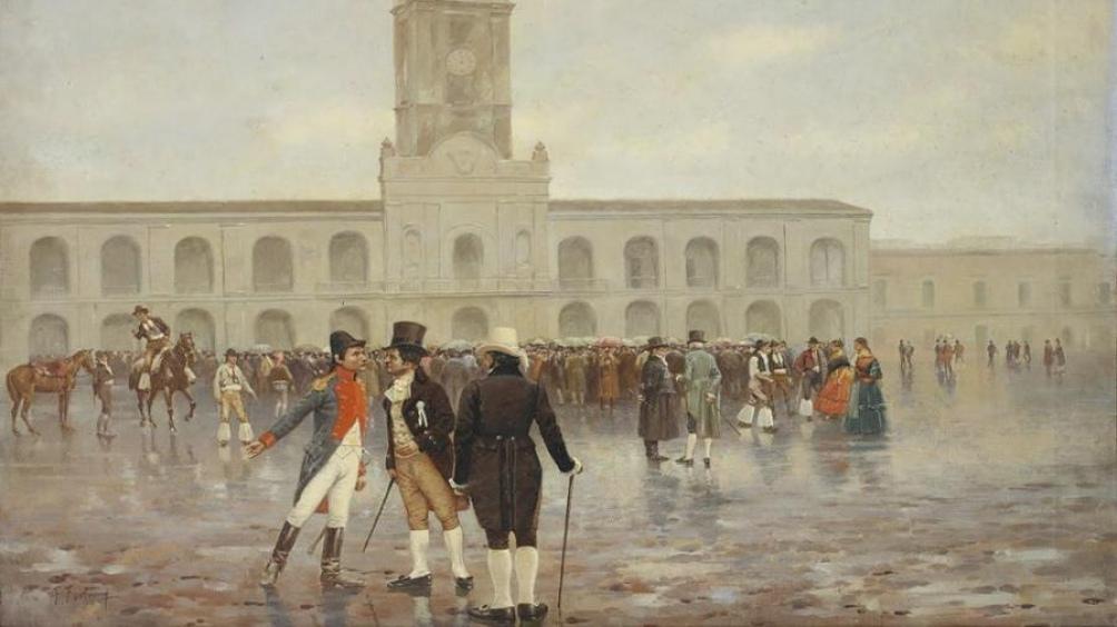"""""""Revolución de Mayo"""", la obra del pintor catalán Francisco Fortuny."""