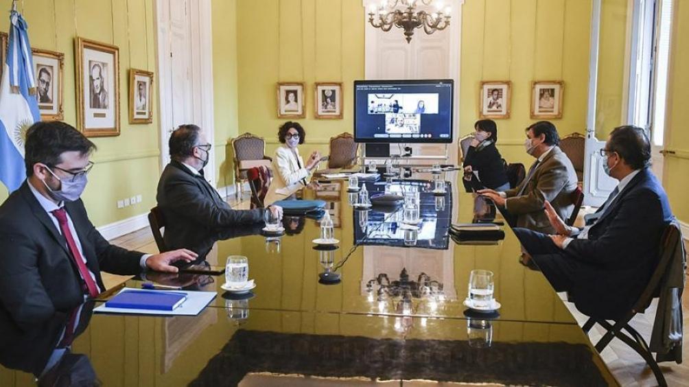 Este miércoles se realizó una reunión de gabinete económico, encabezada por el Jefe de Gabinete Santiago Cafiero.