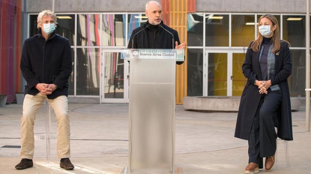 Horacio Rodríguez Larreta realizó el anuncio junto a la ministra de Educación Soledad Acuña.