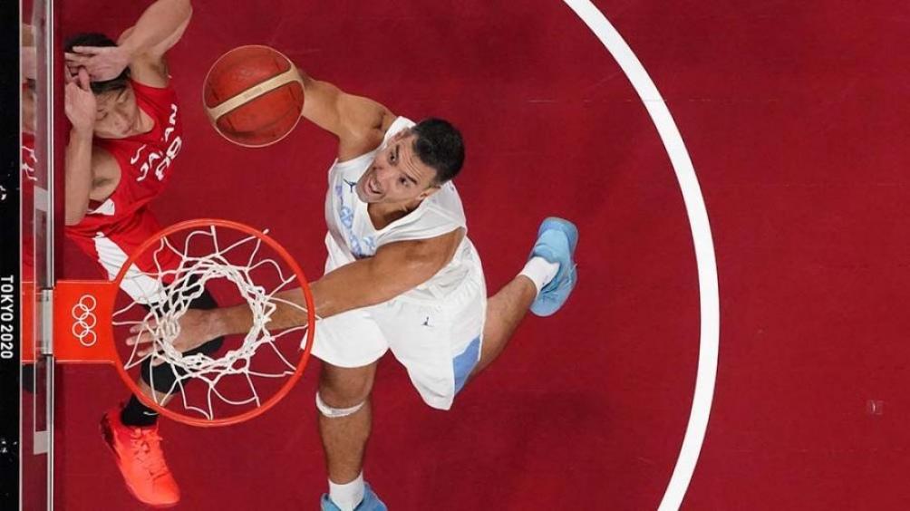 Luis Scola: una leyenda albiceleste. Foto: AFP.