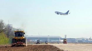 Manzur, Guerrera y Lammens visitan obras en el aeropuerto internacional de Ezeiza