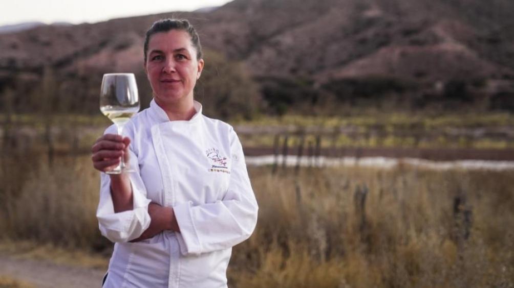 Florencia Rodríguez, en Tilcara, a 2.500 metros de altura y a 1.600 kilómetros de Buenos Aires. (Foto: Feedback PR)