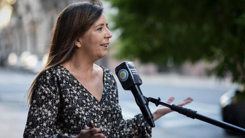 La portavoz de la Presidencia, Gabriela Cerruti, brindará su primera conferencia de prensa para los periodistas acreditados en la Casa Rosada..